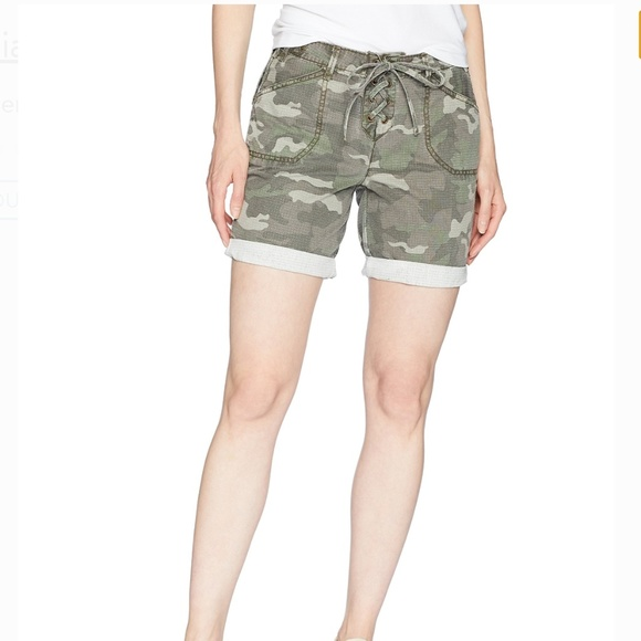William Rast Pants - William Rast Green Camouflage Cargo Shorts